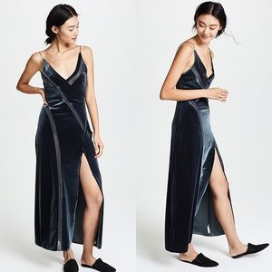 NWT Free People Spliced Velour Maxi Dress M